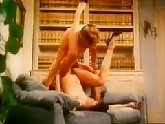 Slut got her hairy twat fucked in vintage porn video