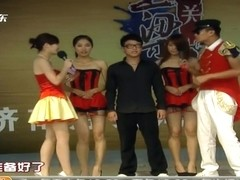 Chinese TV game show nipple slips