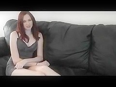 Redhead Scarlett make a self foot worship