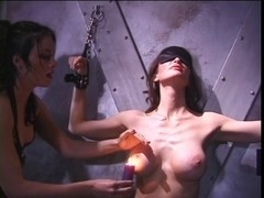 Lesbo women using teat clamps