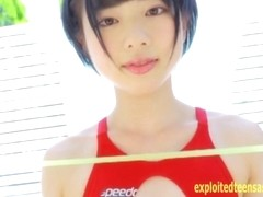 Rin Sasayama Pretty Teen Teases In Her Swimsuit Stunning Girl Bends In Many Pos So You Can See Her.