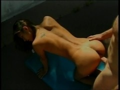 Very sexy lalin girl bonks hard outdoors and takes load on face