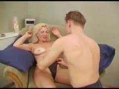 Mature blonde gets asshole-fucked