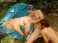 Anal camping with two girl sluts