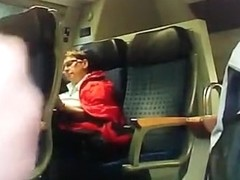 Perverted masturbation on Train