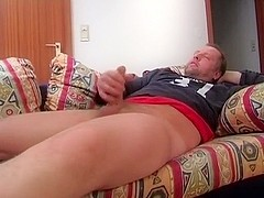 Playing With Bound Balls Handjob