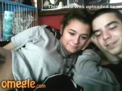 Dude convinces his girl gf to fuck online on omegle
