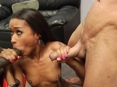 Skin Diamond gets her mouth filled with hard cock