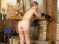 Agatha in Hairy Pussy Mature Scene