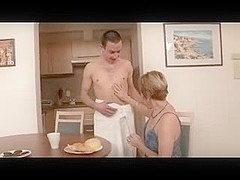 Hairy mature takes a much younger cock