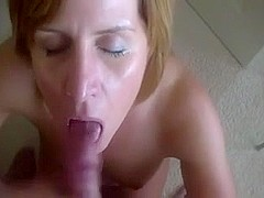 Homemade Wife Milf Deepthroat Facial