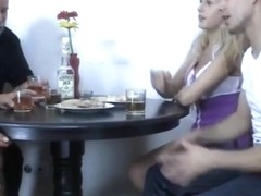 Mature Couple Threesome With college girl