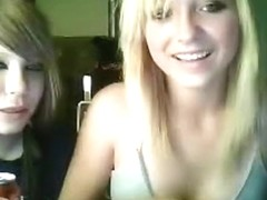 2 cute girls show off their tits and pussy online