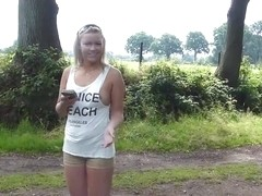 Nice OutDoor Blonde Teen