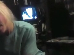 Cute blonde girl sucks her bf's cock pov on the bed