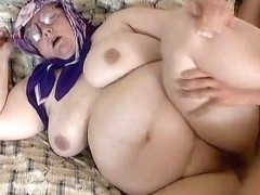 Insatiable Granny receives herself off