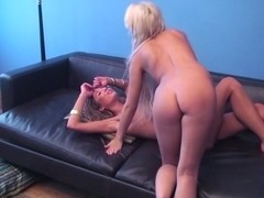 Licking whip cream off boobs and pussy