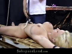 Big boobs blonde dominated