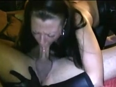 Slutty wife giving unfathomable mouth oral job on livecam juicy wang