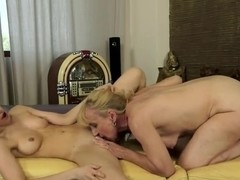 Crazy lesbian couple of Nanney and Tina Blade fucking