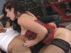 Billy Glide egts blowjob from busty Jayden Jaymes