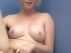 Eve Kisa sweeping floor and rubbing her cunt