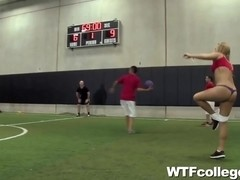 Girls Strip and Fuck at Dodgeball Tournament