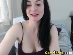 Babe Makes her Huge Tits Bounce while Riding Dildo
