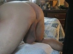 Wife gives special care to my ass and cock