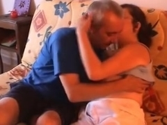 French non-professional aged pair fuck