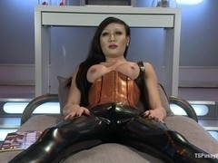 Energize a Penis onto Her Beautiful Latex Covered Crotch Sci Fi SEX