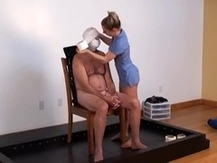 Latex Penis Mummy Forced to Pop