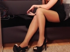 Very long teasing from a pantyhosed goddess