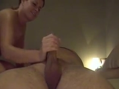 Everyman dream to have his wife give him such a blowjob !!