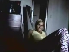 Non-Professional College Golden-Haired Masturbating On The Floor