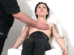 Medical fetish and humiliation of tied asian patient Me