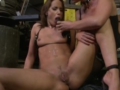 Andy Brown and Kathia Nobili playing with dildo