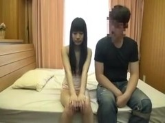 MMF threesome with one cute Japanese bimbo