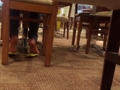 Candid brazilian ebony soles at mall