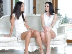 First time by Sapphic Erotica sensual erotic lesbian porn with Kittina Cox and Shrima Malati