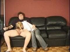 Video from Mytinydick: Petite blonde fucking a chubby guys tiny dick