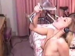 Cum Drinking college girl Gets Facialised For Homework