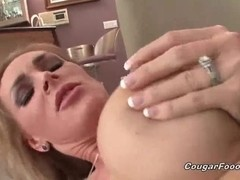 Slutty blonde can't get enough of cock