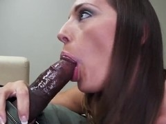 Jamie Jackson sucks fat black cock in pov