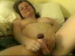 Birthday MILF's First Dildo Fuck