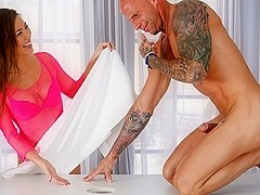 Kalina Ryu & Barry Scott in A Break From Studying Video