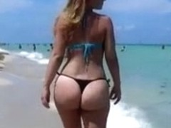 sexy big ass on beach 2014