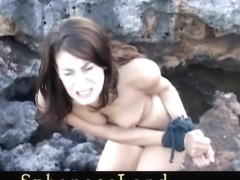 Merciless bdsm lesson at the waterfront for a sex ### girl