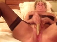 Granny Shirley makes vid for her men
