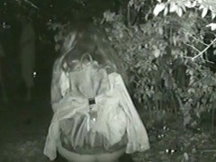 During night voyeur find hot girls taking a piss